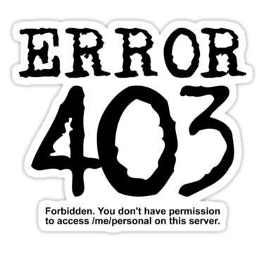 403 error or forbidden