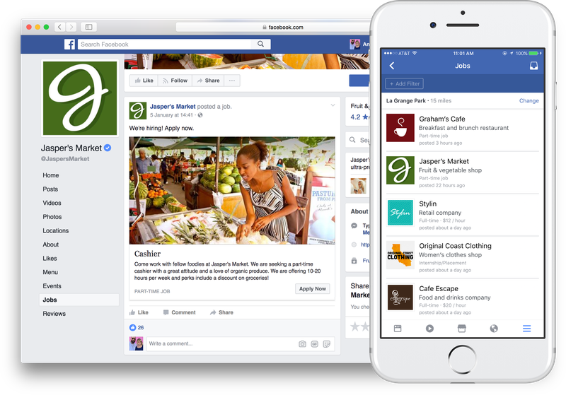 Facebook Jobs Desktop Mobile Experience