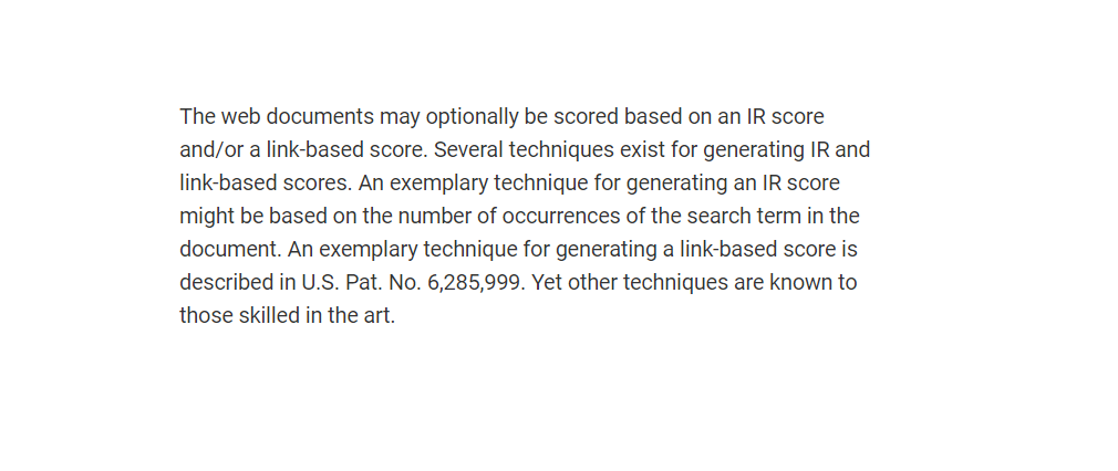 google ir score rank