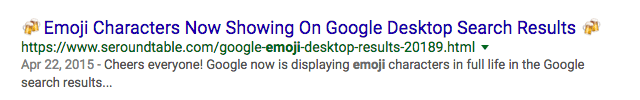 sample emojis google results